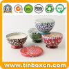 Seamless Bowl Shape Candle Tin Box for Gift Wax Packaging