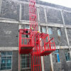Ss100/100 1ton Double Cage Construction Material Hoist