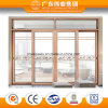 Double Track Aluminium Sliding Door Wood Grain Transfer Color