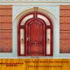 Side Lite Glass Entry Door Exterior Arched Glass Wooden Door (XS2-036)