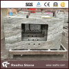 Prefabricated Brown Fantasy Marble Countertops Table Tops Replacement