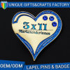 Custom Heart Shape Metal Badges for Sales