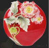 Chinese Modern Art Red Vases with Flowers for Wholesale (FS-105001)