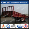 Cimc Huajun 3axle Standard Fence Trailer with Flat Side Wall