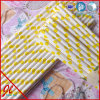 Yellow Paper Reusable Straws Eco Straws Prty Straws Plastic Straws