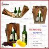 Wooden Pattern Dual Wine Carrier (5970R2)