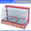Curved Glass Warming Display Showcase, Hot Food Warmer Display Showcase