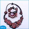 White Titanium Necklace, Fashion Necklace, Purple Necklace