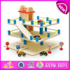 Hot New Product for 2015 Kids Toy Mini Park Toy, High Quality Chidren Wooden Toy Park, Hot Sale Funny Wooden Car Park Toy W04b008