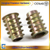 Color Zinc Plated Zinc Alloy Wood Insert Nut M6/M8/M10