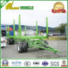 Double Axles Flatbed Drawbar Transport Wood Full Dolly Trailer
