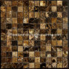 Customized Dark Emperador Marble Mosaic Wall Tile for Bathroom Decoration