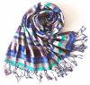 2017 Fashion Geometic Printing Viscose Lady Scarf (HWBVS061)