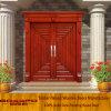 Solid Wood Modern Villa Door Entrance Security Door (XS1-021)