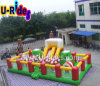Inflatable Christmas Combo Castle with climbing rocks