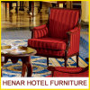 European Style Luxury Retro Red Stripe Armchairs
