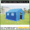 6 Persons 3X4m Outdoor Blue Livable Disaster Relief Refugee Tent