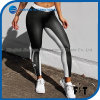 Classic Black and White Splicing Sports Tights for Women Slim Workout Pants