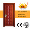 Hot Sale Popular Interior Teak Carved Solid Wooden Doors (SC-W092)