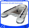 Aluminum V Hull Rigid Inflatable Boat with Front Locker (CE)