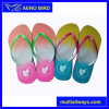 Fashion Slipper Sandal with Double Color Straps for Girl