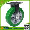 5inch Fixed Elastic PU Wheel Heavy Duty Castor