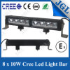 10W Super Bright Driving Beam LED Light Bar 80W