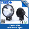 Round Offraod Lights, LED 12 Volt Work Light 30W