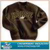 Men Brown Pull Over Sweatshirt with Embroidery