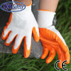 Nmsafety Polyester Shell Orange Nitrile Coated Safety Glove