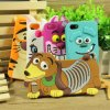 Cute 3D Cartoon Animal Monster Rubber Soft Sillicone Case for iPhone 5 5s