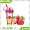 Double Wall Detox Fruit Water Tumbler with Straw