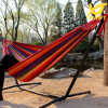 Double Multicolor Outdoor Canvas Hammock Swing