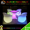 Remoted Control Plastic Garden Furniture LED Sofa