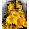 3D Lively Sunflower Bedsheet #Lq-190-Mn1