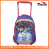 Cartoon Allover Pattern Wheeled High Quality Grid School Bags