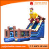 Ski Hut Inflatable Slide with Bouncy Castle (T4-010)