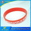 Custom Fashion Silicon/Rubber/PVC/Printed/Embossed/Debossed/Luminous Silicone Bracelet with Logo (XF-WB14)
