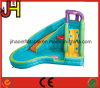 Slide Combo Mini Inflatable Curve Water Slide with Swimming Pool