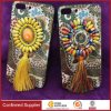 Unique Bohemian Style Hybrid Protective Case with Ball Pendant