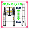 Portable out Door Foldable Extening Ladder