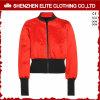 Fashion Red and Black Bomer Varsity Jacket Women (ELTBJI-60)