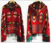 Lady′s Winter Star Jacquard Cape/Shawl Retro National Style (H22)