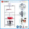 DIY 4 Tiers Chrome Metal Bathroom Corner Wire Rack (CJ-C1035)