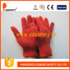 Ddsafety 2017 7 Gauge Red Cotton Polyester String Knitted Safety Gloves