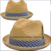 Polybroid Straw Fedora Hats for Lady (CPA_60228)
