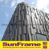 Aluminium Curtain Wall System with Aluminium Cladding Panels and Glasses