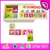 2015 Wooden Educational Kids Domino Puzzle Toy, Children Wooden Domino Play Set, Animal Dominoes Intelligent Puzzle Game W15A005