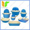 12-Piece Enamel Cast Iron France Blue Cookware Set