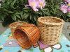 De aangepaste Milieuvriendelijke Geweven Bloempotten van de Decoratie van de Tuin van de Wilg in Verschillende Kleuren